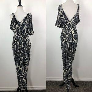 T-Bags Los Angeles Maxi Dress Asymmetrical Sleeve